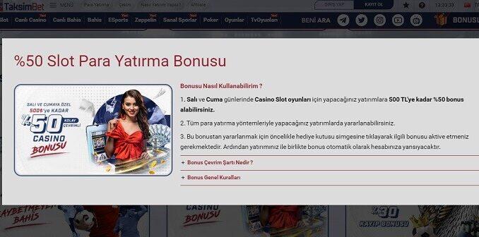 TaksimBet Bonus Veren Siteler